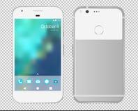 Google-pixeltelefoon Vector illustratie royalty-vrije illustratie