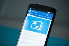 Google Play Newsstand on Google Nexus 5 Stock Photography
