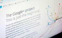 google plus arkivbild