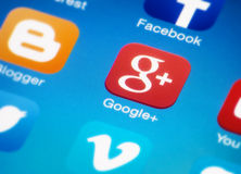 Google plus Stock Foto's