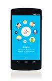 Google plus app på Google samband 5 Royaltyfria Bilder