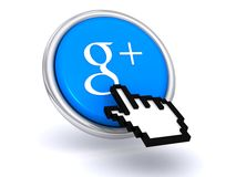 Google Plus button Royalty Free Stock Images