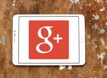 Google plus embleem stock afbeelding