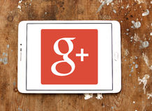 Google Plus logo. Google Plus application logo and vector on samsung tablet stock image