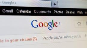 google plus projekt Royaltyfria Bilder