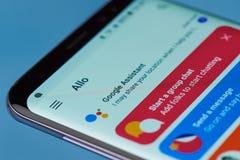 Google pomocniczy podaniowy menu Zdjęcie Royalty Free