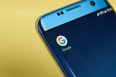 Google procura o ícone da aplicação Foto de Stock Royalty Free