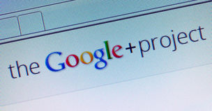 Google+ Projekt Stockfoto