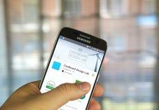 Google projekta Kartonowy Lab app Zdjęcie Royalty Free