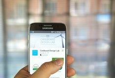 Google projekta Kartonowy Lab app Zdjęcie Stock