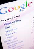 google prywatność obrazy stock