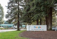 Google que constrói o sinal 44 Fotografia de Stock Royalty Free