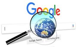 Google rengöringsdukinternetsökande royaltyfria bilder
