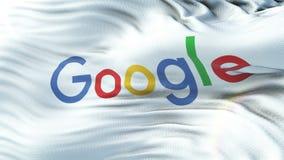 Google señala agitar por medio de una bandera en el sol Lazo inconsútil con textura altamente detallada de la tela stock de ilustración