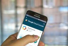 Google se nubla la consola app Imagen de archivo libre de regalías