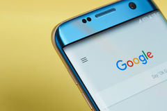 Google search application menu royalty free stock image
