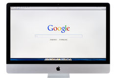 Google search home page Royalty Free Stock Photos