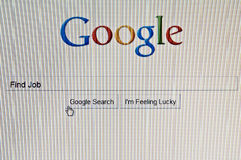 Google search job Stock Photo