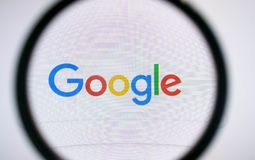 Search of information in Google stock photography