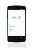 Google search webpage on Google Nexus 5 Stock Images