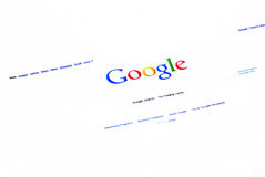 Google searh homepage Stock Image