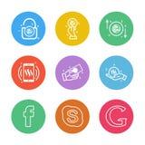Google , skype, facebook , Nexus , nxs , crypto , currency , cry. Pto cuurency , money , exchange , coin , dollar , graph , icon, vector, design, flat vector illustration