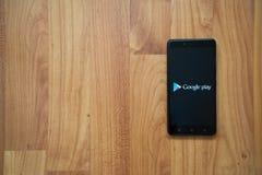 Google-spel op smartphone Stock Afbeeldingen