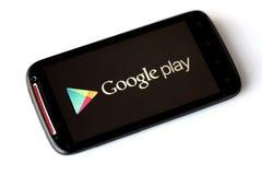 Google spelrumtelefon arkivbilder