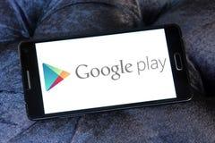 Google spielen Logo stockfotografie