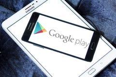 Google spielen Logo stockbild