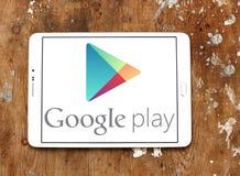 Google spielen Logo lizenzfreies stockfoto