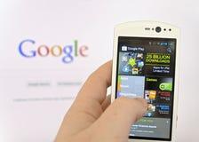 Google-Spielspeicher lizenzfreie stockfotografie
