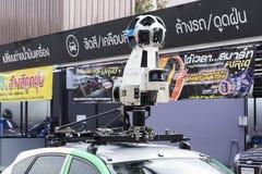 Google-Straßenansicht-Parkplatz in einem Gas satation stockbild