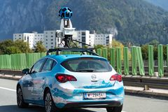 Google Street View Car royalty free stock photography