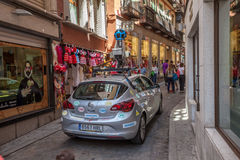Google street view car in Toledo, Spain Royalty Free Stock Images