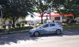 Google Street View Mapping and Photography Vehicle. Google Street View is a technology featured in Google Maps and Google Earth that provides panoramic views stock images