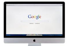 Google suchen Homepage Lizenzfreie Stockfotos