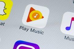 Google sztuki Muzyczna podaniowa ikona na Jabłczany X iPhone parawanowym zakończeniu Google sztuki app ikona Google sztuki muzyki Zdjęcia Royalty Free