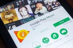 Google sztuki Muzyczna wisząca ozdoba app na pokazie pastylka pecet Ryazan Rosja, Marzec - 21, 2018 - Zdjęcia Royalty Free