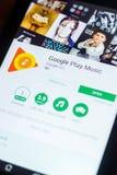 Google sztuki Muzyczna wisząca ozdoba app na pokazie pastylka pecet Ryazan Rosja, Marzec - 21, 2018 - Obraz Royalty Free