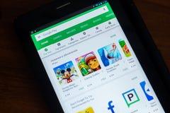 Google sztuki sklep app na pokazie pastylka Ryazan Rosja, Marzec - 21, 2018 - Zdjęcia Stock