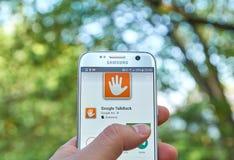 Google TalkBack app Fotografia Royalty Free