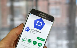 Google Talkback app Stock Photos