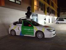 Google tracent la voiture Images libres de droits