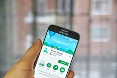 Google Train Up app Royalty Free Stock Photos