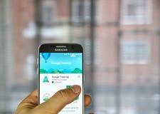 Google Train Up app Royalty Free Stock Photo