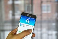 Google trampolina app Obrazy Stock