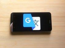 Google vertaalt app stock foto