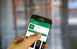 Google vertaalt mobiele toepassing Royalty-vrije Stock Fotografie