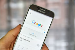 Google Weather page Royalty Free Stock Images